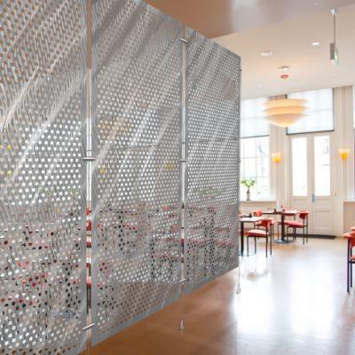 modern stylish wall in restaurant interior